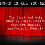 English language improv show